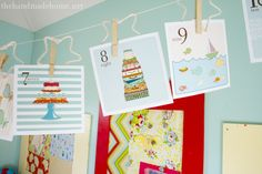Free printable gorgeous number cards.