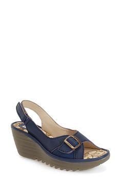 Fly London 'Yaga' Platform Wedge Sandal (Women) Platform Wedge Sandals, Wedge Heels, Fly London Shoes, Hot Shoes, Slingback Sandal, Open Toe, Shoe Boots, Nordstrom, Footwear