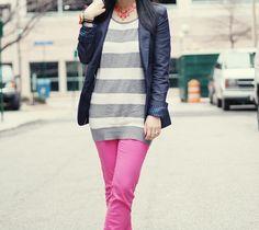 pink + stripes.