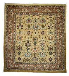 Vintage Persian Sultanabad Rug with Traditional Modern Style | From a unique collection of antique and modern persian rugs at https://www.1stdibs.com/furniture/rugs-carpets/persian-rugs/