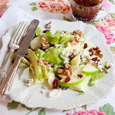 Apple-Cranberry Salad from @Lana Stuart   Never Enough Thyme http://www.lanascooking.com/2012/11/20/apple-cranberry-salad-and-a-thanksgiving-recipe-roundup/