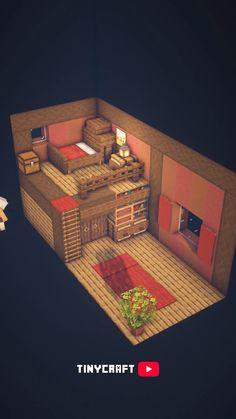 Minecraft Cottage, Easy Minecraft Houses, Minecraft House Tutorials, Minecraft Room, Minecraft Plans, Amazing Minecraft, Minecraft Tutorial, Minecraft Blueprints, Minecraft Creations