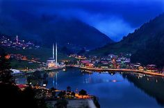 View of Trabzon in the evening... #trabzon #turkey