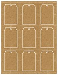 Print your own rustic brown kraft gift tags, perfect for favors or unique business cards.   Jilly Bean Kids