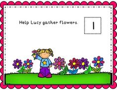 Help Lucy Gather Flowers - Differentiated and Done Play Doh Mats
