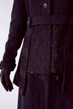 fabulous soutache detailing on this Edwardian walking suit from Fab Gabs Vintage.