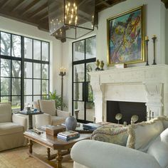 Living Room Metal Window Design, Pictures, Remodel, Decor and Ideas