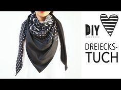 XXL Dreieckstuch nähen mit Patchworkmuster / DIY MODE Nähanleitung - YouTube