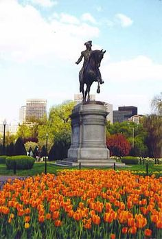 MA - Boston. Statue of Paul Revere, an American silversmith, engraver, early…