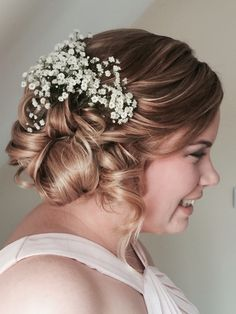 Bridal with gypsophelia