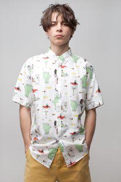 SOULLAND Babar Celeste Paris Shirt