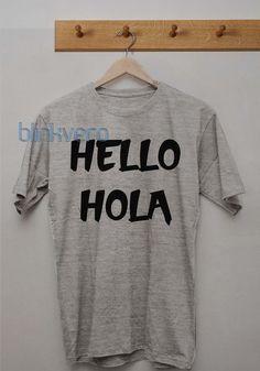 Hello hola awesome unisex tshirt tanktop adult //Price: $10 & FREE Shipping //     #custom shirts