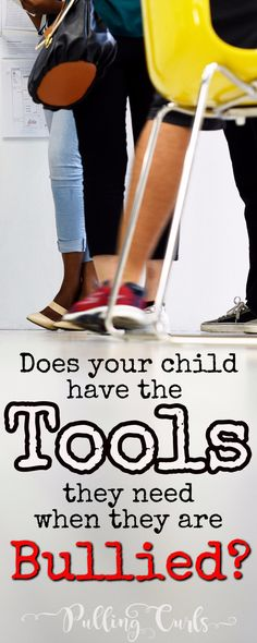 Your child needs a number of tools if they are being bullied / elementary / high school / middle / jr high / teasing