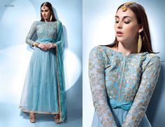 Get this sparkling blue suit this festive season <3 Call/whatsapp +919600639563 for booking. #Fashion #indian #bridal #outfit #loveit #trends #festive #fashionista #stye #Partywear