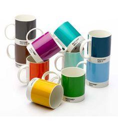 Pantone koffie & thee mugs
