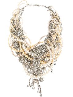 Tom Binns Design Binns of the week! Our Grande Dame pearl and crystal tangled necklace, available at Farfetch