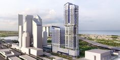Ben van Berkel / UNStudio designs the new UIC building 'V on Shenton' in Singapore Ben...
