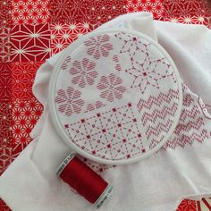 Pattern darning and sashiko style embroidery combine! Chart from Blackwork Journey