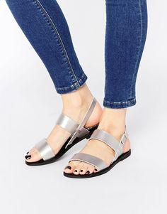 Image 1 ofPark Lane Strap Flat Sandals