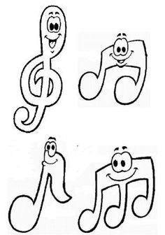 Découpage notes de musique