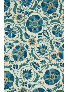 This Mayfield Ivory Blue Collection rug (MF-10) is manufactured by Loloi.