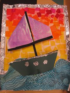 The Clever Feather: Seascapes- 4th Grade
