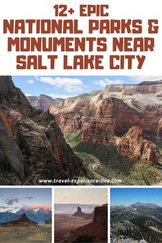 Check out which spectacular national parks and monuments you can visit from Salt Lake City, Utah.