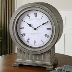 Uttermost Chouteau Mantel Clock - 18.6H in. | from hayneedle.com