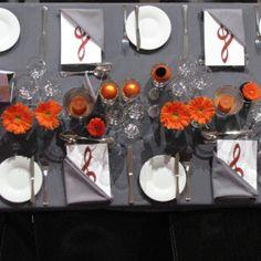 Blumendeko in Gläsern / Tischdekoration