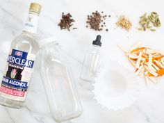 How to Make Homemade Bitters (Plus, the Ultimate Old Fashioned Recipe) Old Fashioned Bitters, Old Fashioned Glass, Large Glass Bottle, Small Bottles, Homemade Bitters Recipe, How To Make Bitters, Making An Old Fashioned, Hippie Juice, Grain Alcohol