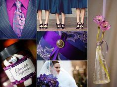 Royal purple & royal blue wedding - beautiful