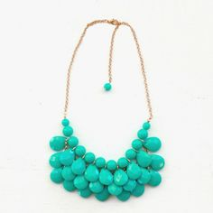 Chloe Bubble Statement Necklace - Teal