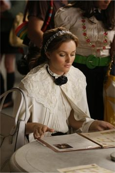 lace cape. I love Blair Waldorf