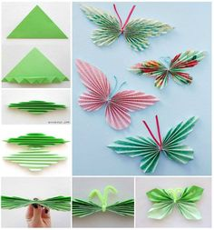 Level: medium // Papierschmetterlinge für den Frühling // Gesehen bei: http://thewhoot.com.au/whoot-news/crafty-corner/paper-butterfly-garland