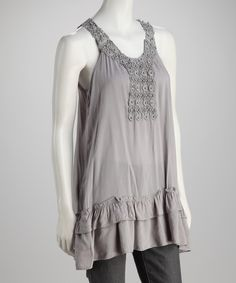Take a look at this Simply Irresistible Silver Yoke Tank on zulily today!
