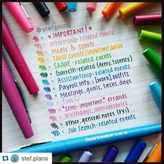 """From @torilynnplans - """"Holy color coding goals  @stef.plans ❤️❤️❤️❤️"""""""