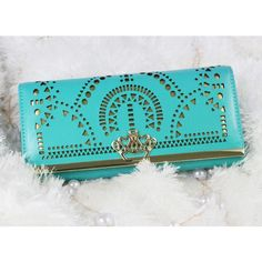 Fashion Geometric Hollow Out Crown Clutch Bag& Wallet for only $24.99
