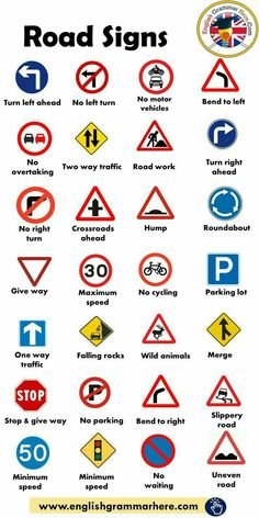 History Discover Road Signs Traffic Signs - English Grammar Here Learn English Words English Vocabulary Words Learn English Grammar English Language Learning General Knowledge Facts Gernal Knowledge Knowledge Quotes English Writing Skills English Lessons English Writing Skills, Learn English Grammar, English Vocabulary Words, Learn English Words, English Phrases, English Language Learning, English Lessons, Math Vocabulary, English English