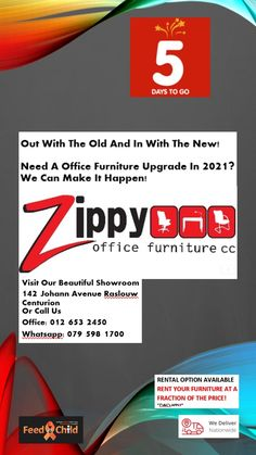 ONLY 5 DAYS TO GO,LET THE COUNT DOWN BEGIN!!! OPENING 4 JANUARY 2021 Out with the OLD and in with the NEW!! Do you need a upgrade in your office in 2021? Let our team assist in helping you with the change. Business Furniture, Office Furniture, Count, January, To Go, Old Things, Change, Shit Happens, Day
