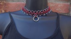 O Ring Chainmaille Collar Choker