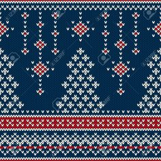 Winter Holiday Seamless Knitting Pattern With A Christmas Tree Royalty Free Cliparts, Vectors, And Stock Illustration. Pic 32578587.