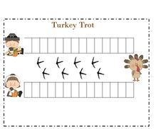 Thanksgiving math dice partner game counting practice activity