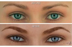 Before & After Photos of MicroArt Semi Permanent Makeup for Eyebrows & Eyeliner - an Alternative to Eyebrow Tattooing and Permanent Cosmetics