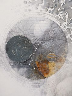 Abstract painting, collage and drawing by Louisa Boyd