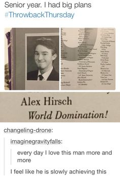 Alex Hirsch (creator of Gravity Falls) is doing well taking over the world.