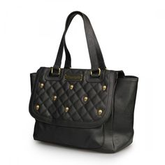 Loungefly Black Quilted Skull Studs Bag - View All - Bags