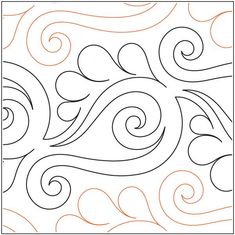 Vogue pantograph pattern by Patricia Ritter and Valerie Smith Quilting Stencils, Quilting Templates, Stencil Patterns, Longarm Quilting, Free Motion Quilting, Quilting Projects, Quilt Patterns, Quilting Ideas, Art Patterns