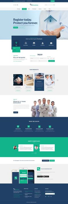 LifeInsurance – An insurance, taxes, finance & consulting service, business driven agency PSD templa Layout Site, Website Design Layout, Web Layout, Website Designs, Corporate Website Design, Web Design Agency, Web Design Services, Flyer Design, Simple Web Design