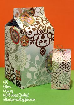 "8"" Milk Carton and treat box SVG Freebie!!!"