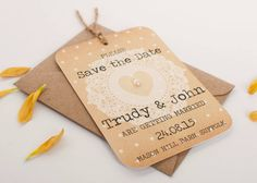 Rustic Lace Gem Save The Date